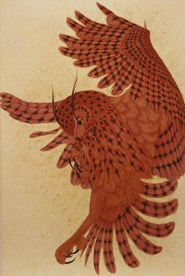 flutter  2016 M30  楮紙、植物染料、顔料