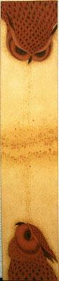 lovers  2013 36.×70 土佐麻紙、植物染料、顔料