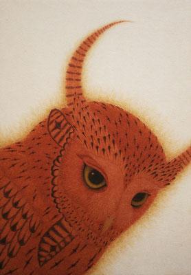 owi warrior -TAKECHIYO-  2015 SM 神宮紙、植物染料、顔料