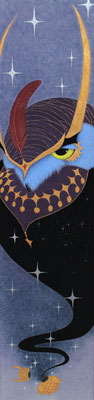 鳥の魔鳥 Potty  2017 500×120 神宮紙、着色雲母、植物染料、顔料