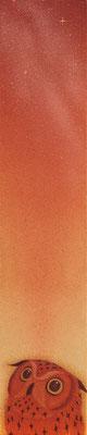 midnight  2014 364×70 土佐麻紙、植物染料、顔料