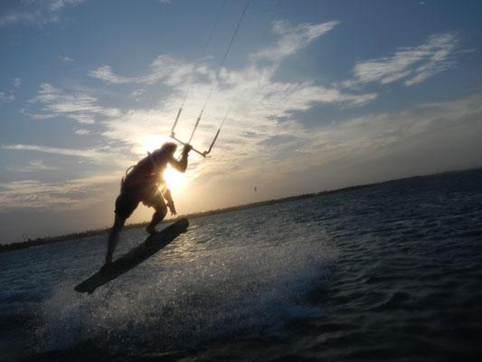 Professionelles Kiten an der Nordsee