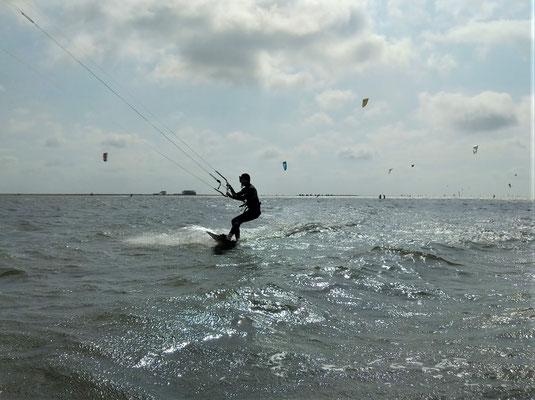 Kitenlernen für alle an der Nordsee