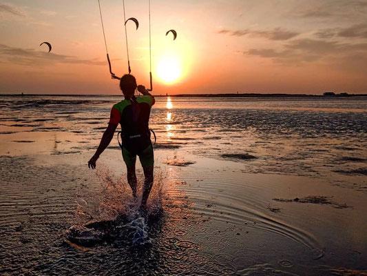 Kite-Idyll am Nordseestrand von St. Peter Ording