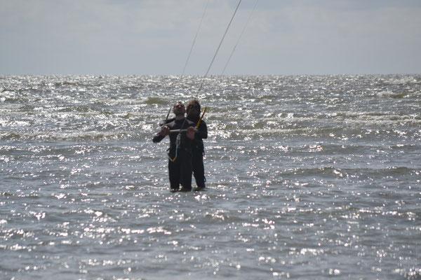 Für Anfänger im seichten Wasser der Nordsee