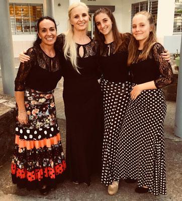 Jakie, Mélinda, Julia et Manon