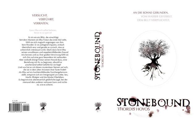 Vorlage des Buchcovers für die Druckerei