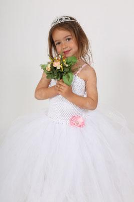 Robe de mariage enfant tulle Blanc