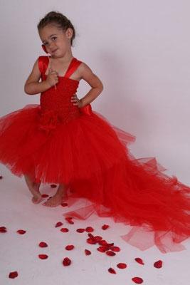 Robe de cérémonie enfant, Rouge
