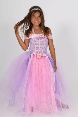 Robe de princesse Raiponce en Tulle