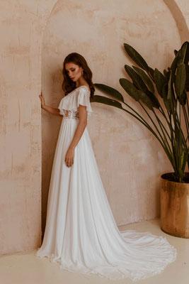 Brautkleid mit Chiffon Rock