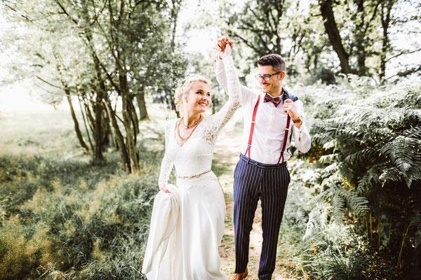 Romantisches Brautkleid mit Schleppe