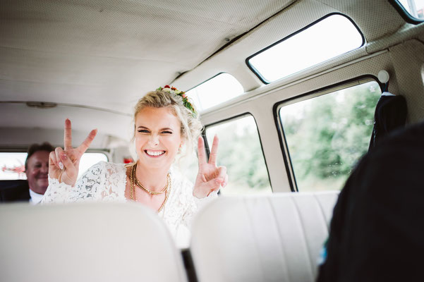 Happy Bride Vintage Wedding