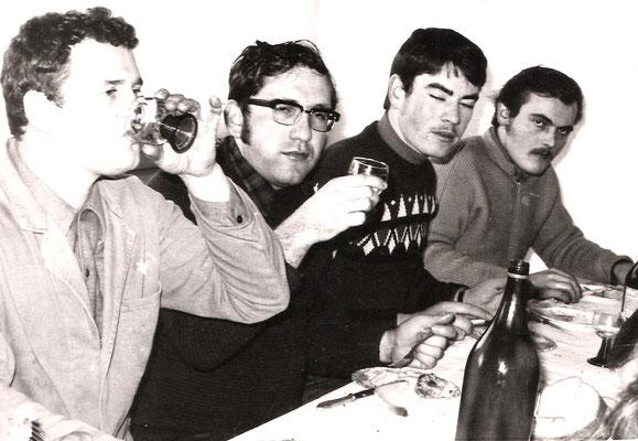 Ewald Zillig, Willi Kästel, Franz Kästel und Hermann Lohaas