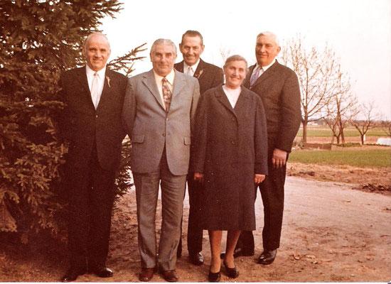 Geschwister Kästel: Karl, Willi, Josef, Katharina und Eugen
