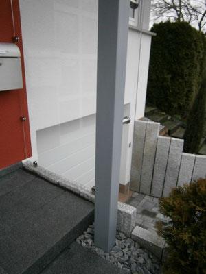 Windschutz EIngangsbereich