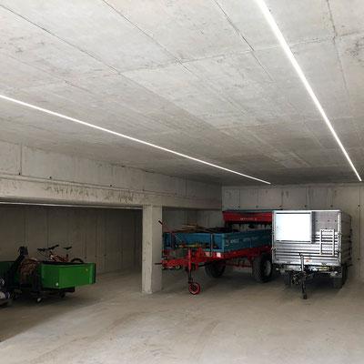 Licht mittels LED-Schienen in Garage