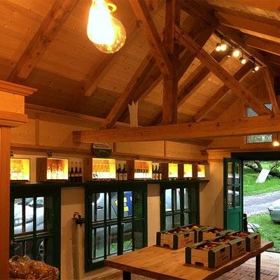 Lichtkonzept für Hofladen von Ligges Obstbau, Flaurling