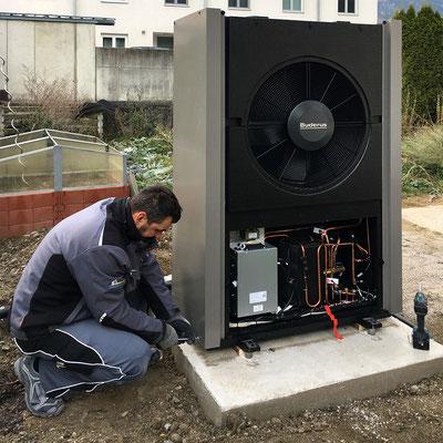 Verkabelung Luftwärmepumpe für Zweiparteienhaus