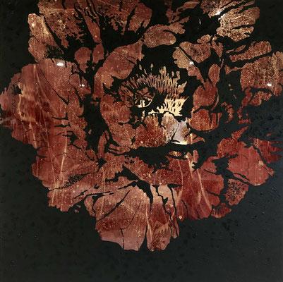 120x120 cm  Resin und Pigment material auf Holz  4.500 CHF