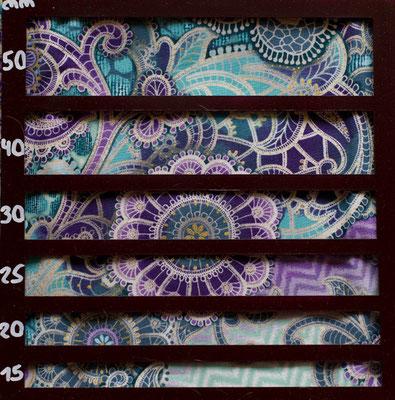 Ornamente lila türkis