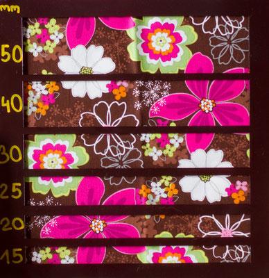 Blüten braun - pink- grün