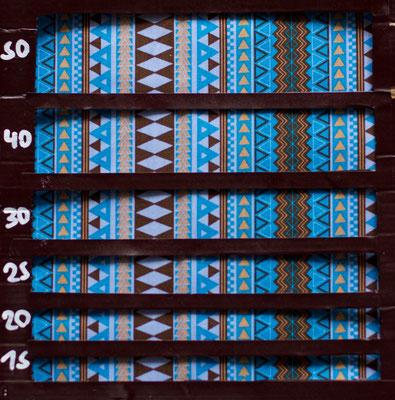 Indianermuster blau braun
