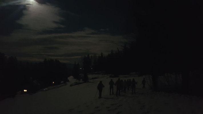 Schneeschuh- Vollmondwanderung