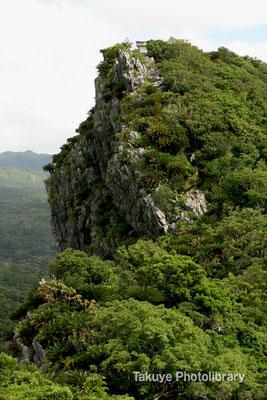 06e-0009a アフリ嶽から観た、シヌクシ嶽。頂上には、白い祠が…