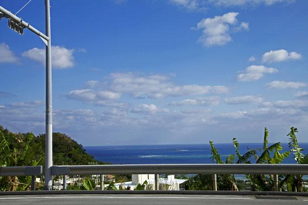 コマカ島が見える路