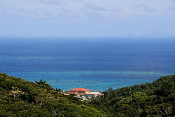 88-0004 森林公園からの眺望。赤瓦は、辺土名の街