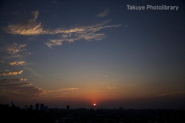 07-0076 那覇市街の夕景