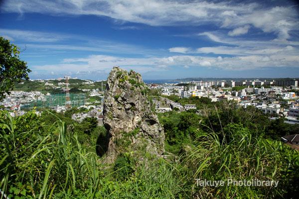 06c-0004 浦添城跡の最東端にある「ハナリジー」別名:為朝岩