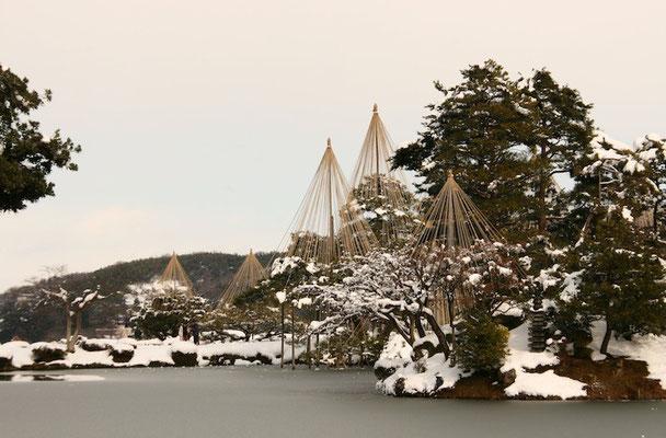 09-0029 雪吊りの兼六園