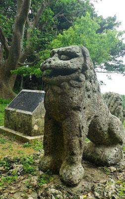 13-0001 東風平町 富盛の石彫大獅子 勢理城-ジリグスク 在住