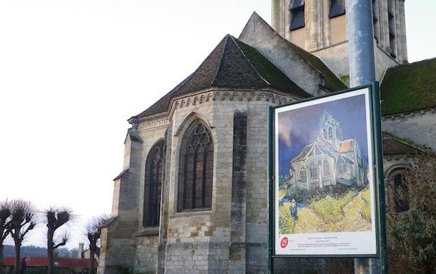 10-0075 ゴッホの絵の題材になった、ノートルダム教会 題名「オーヴェル=シュル=オワーズの教会」