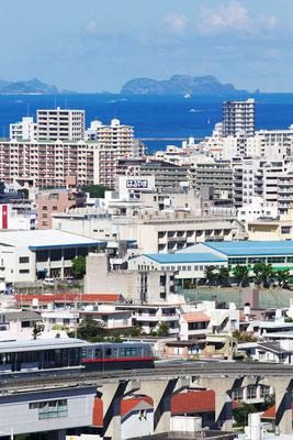88-0005 ケラマ諸島 ゆいレール首里 北森御嶽(ニシムイウタキ)からの眺望