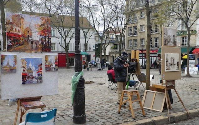 10-0010 芸術家が集まる、モンマルトル、テルトル広場