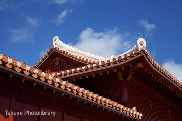 01-0054 首里城 北殿の屋根
