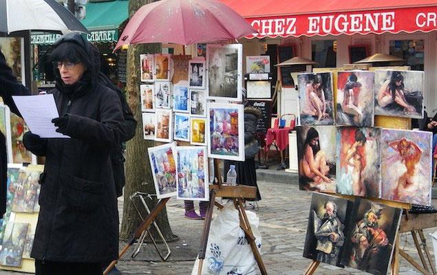 10-0009 芸術家が集まる、モンマルトル、テルトル広場