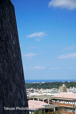 01-0063 東のアザナ城壁と末吉宮の杜の眺望