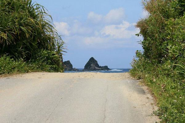 07-0028 海へ続く道 安波の海岸
