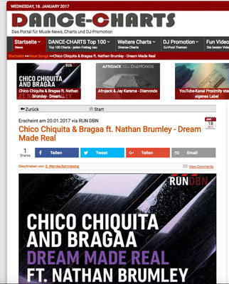 dance-charts.de / Chico Chiquita & Bragaa - Dream Made Real