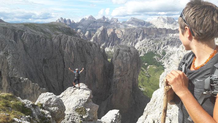 1. Klettersteigpartie überwunden