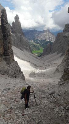 Steiler Aufstieg zum Biz Boé
