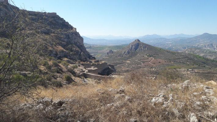 Blick auf den Peloponnes und Akrokorinth