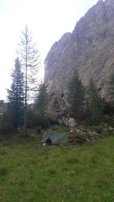 2. Übernachtung im Tal in der Nähe von Korvatsch