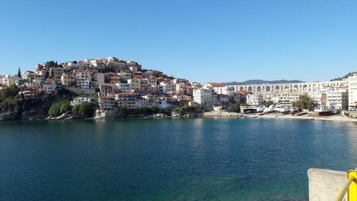 Blick zurück nach Kavala