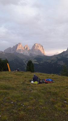 Letzte Nacht bei Col di Rosc unter Sternenhimmel
