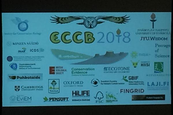 Die Titelfolie der ECCB und alle Sponsoren